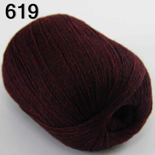 Sale 1ballx50g Super Fine Pure 100/% Cashmere Hand Knitting Yarn 619 Wine Black
