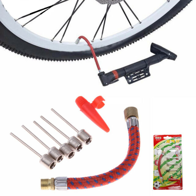Pump Hose Adapter Bike Tire Tube Basketball  Football  Inflating Needle Kits