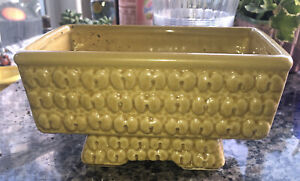 Vintage McCoy Yellow Art Pottery Planter
