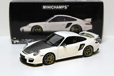 1:18 Minichamps Porsche 911 GT2 RS white/gold 2011 NEW bei PREMIUM-MODELCARS