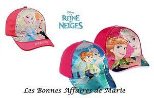 DISNEY-REINE-DES-NEIGES-Nouveaute-Casquette-Anna-amp-Elsa-Neuve-etiquette