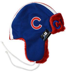 7e36f1e7dcf06 Image is loading Chicago-Cubs-New-Era-Helmet-Head-Knit-Trapper-