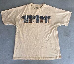VTG-Mens-Newport-Blue-Palm-Tree-Surf-Beach-Ocean-Sunset-Sand-Color-T-Shirt-XL