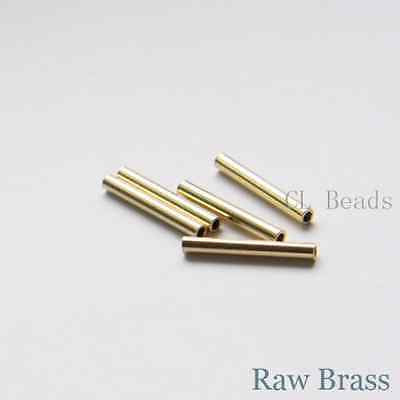 60 Pieces Raw Brass Tube 2x15mm with ID 1.4mm  (1687C-T-7)