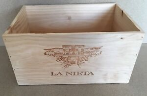 "Weinkiste Holz 6er Kiste Deko Wein Shabby Regal  /'Amancio/"" Spanier Rioja"