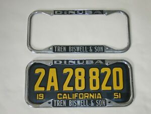 Ford Dealer License Plate Frames 1940 1955 California Ebay