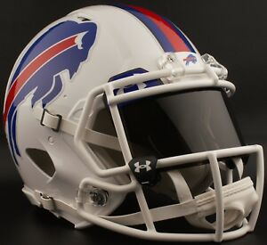 f93f328c Details about ***CUSTOM*** BUFFALO BILLS NFL Riddell Speed AUTHENTIC  Football Helmet