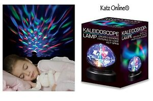 Rotating Kaleidoscope Lamp Projector Baby Room Autism Sensory Prisma Night Light