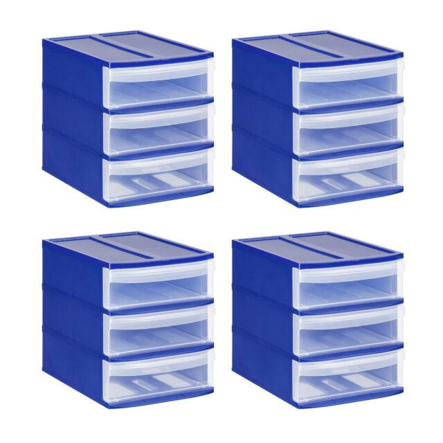 4 Schüben Aufbewahrungsbox Rotho Schubladenbox Organizer Tower Systemix XS