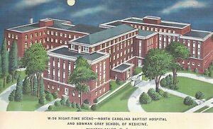 Details about Baptist Hospital Bowman Grey Winston Salem NC Unused Mint  Linen Postcard 10144