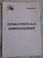 DONALD DUCK ALS SONNTAGSJÄGER - Presseheft - Walt Disney
