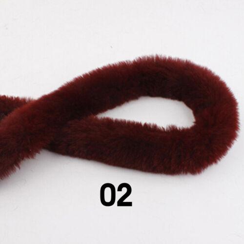 5M Faux Rabbit Fur Strap Trimming Ribbon Fluffy Furry Sewing DIY Crafts Coat Hat