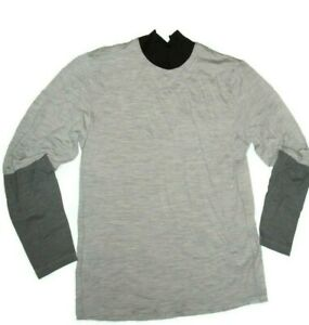 SUB Sports COLD Mens Fitted Merino Wool Base Layer Long Sleeve Top
