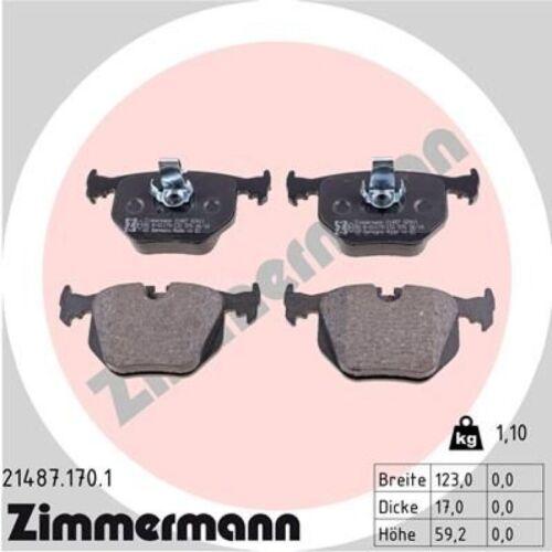 Beläge Set hinten für BMW X3 E83 Zimmermann Sport Bremsscheiben Ø320mm gelocht