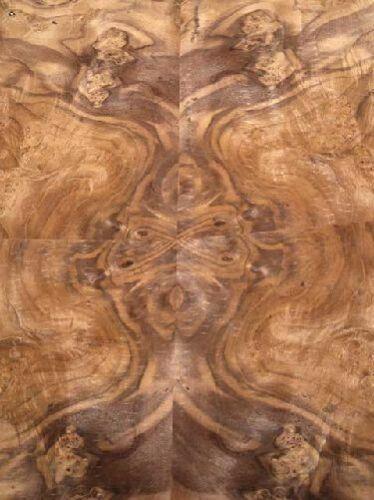 Improvisent loupe de bois placage maserholz Z 37x32//34cm 4 feuilles