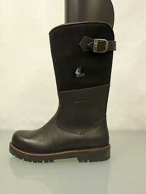 LACKNER Leder Stiefel Gr.38 Lammfell gefüttert Leather Boots