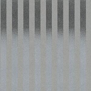 Zircon Textured Modern Silver Glitter Stripe Wallpaper