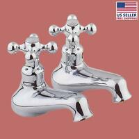 Bathroom Single Tap Faucet Chrome Pair 2 Handles Widespread | Renovator's Supply on sale
