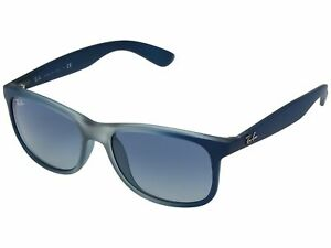 b5a37fc993e Ray Ban RB4202-63704L-55 ANDY Sunglasses Grey Blue Frame Blue ...