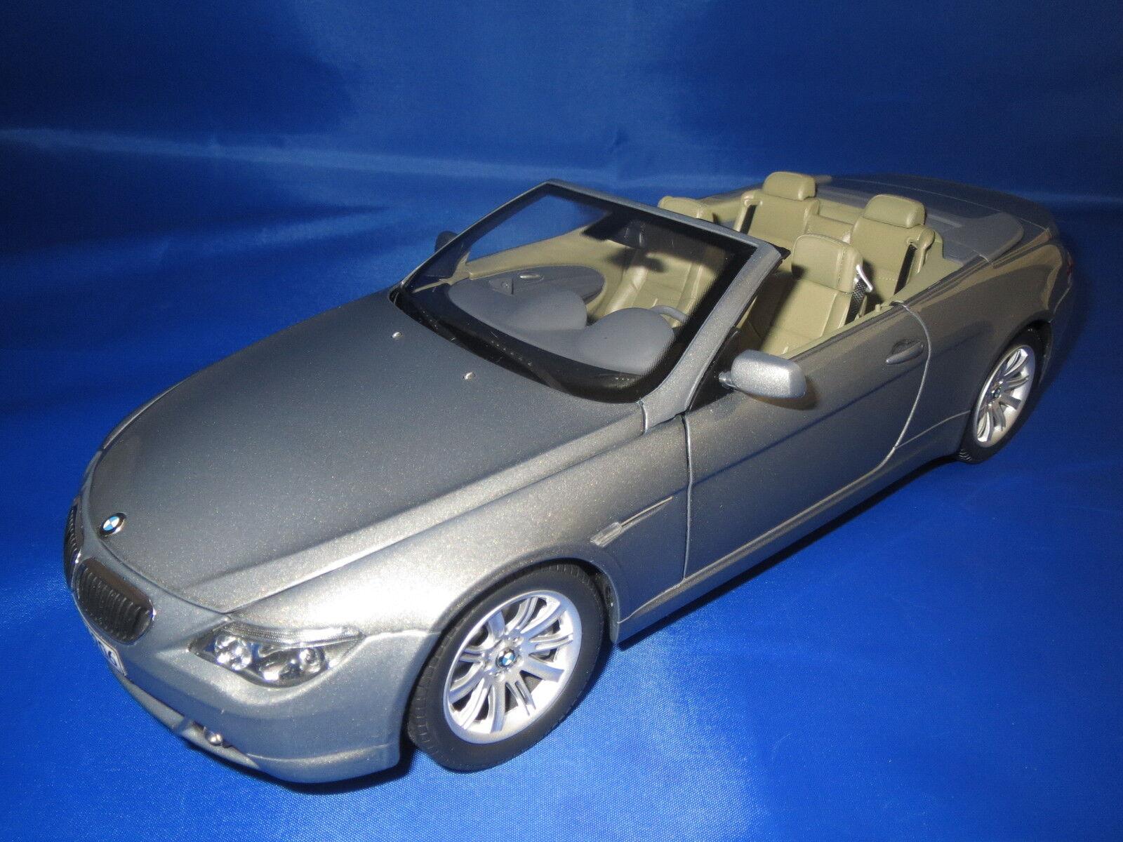 KYOSHO BMW 6er Cabrio Dealer version 80430153438 (Grigio-metallico) 1:18 OVP