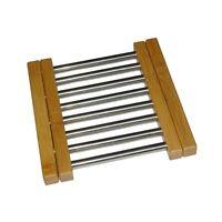 Dessous De Plat Extensible Bambou Et Inox Système Coulissant De 23 À 38 Cm