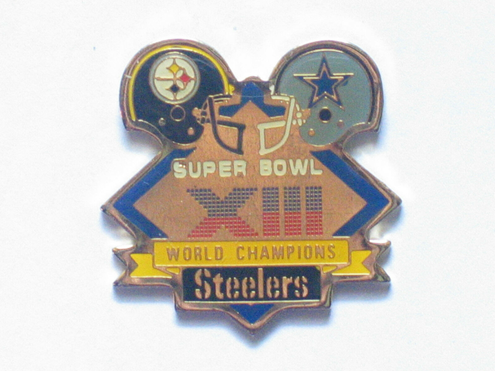 Superbowl XIII XIII XIII Pittsburgh Steelers Vs. Dallas Cowboys Super Bowl Prendedor Pin 81778f