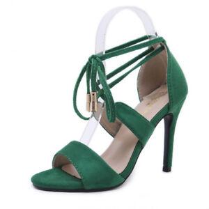 Ciabatte Sandali Verde Simil Pelle Cm Stiletto 10 Cw857 Eleganti Sabot YwqpnvAUx