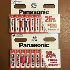 20 x AA Genuine PANASONIC Zinc Carbon Batteries - New R6 1.5V Expiry 11/2019