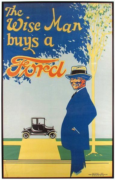 Vintage 1920s Ford Motor Car Advertisement Poster A3 Print
