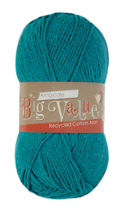 Big-Value-recycled-cotton-aran-yarn-by-king-Cole-100g-ball