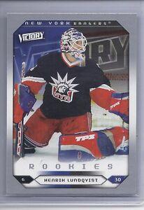 05 06 2005 06 Upper Deck Victory Henrik Lundqvist Rookie Rc 288 New