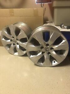 "Two 17"" Honda Accord 2008 2009 2010 Factory OEM Rim Wheel Silver"