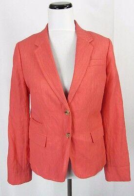 J Crew Schoolboy Blazer size 12 Coral Textured Career Suit Slim