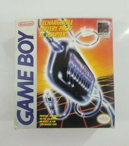 Official Nintendo Gameboy Rechargeable Battery Pack/AC Adapter In Box CIB