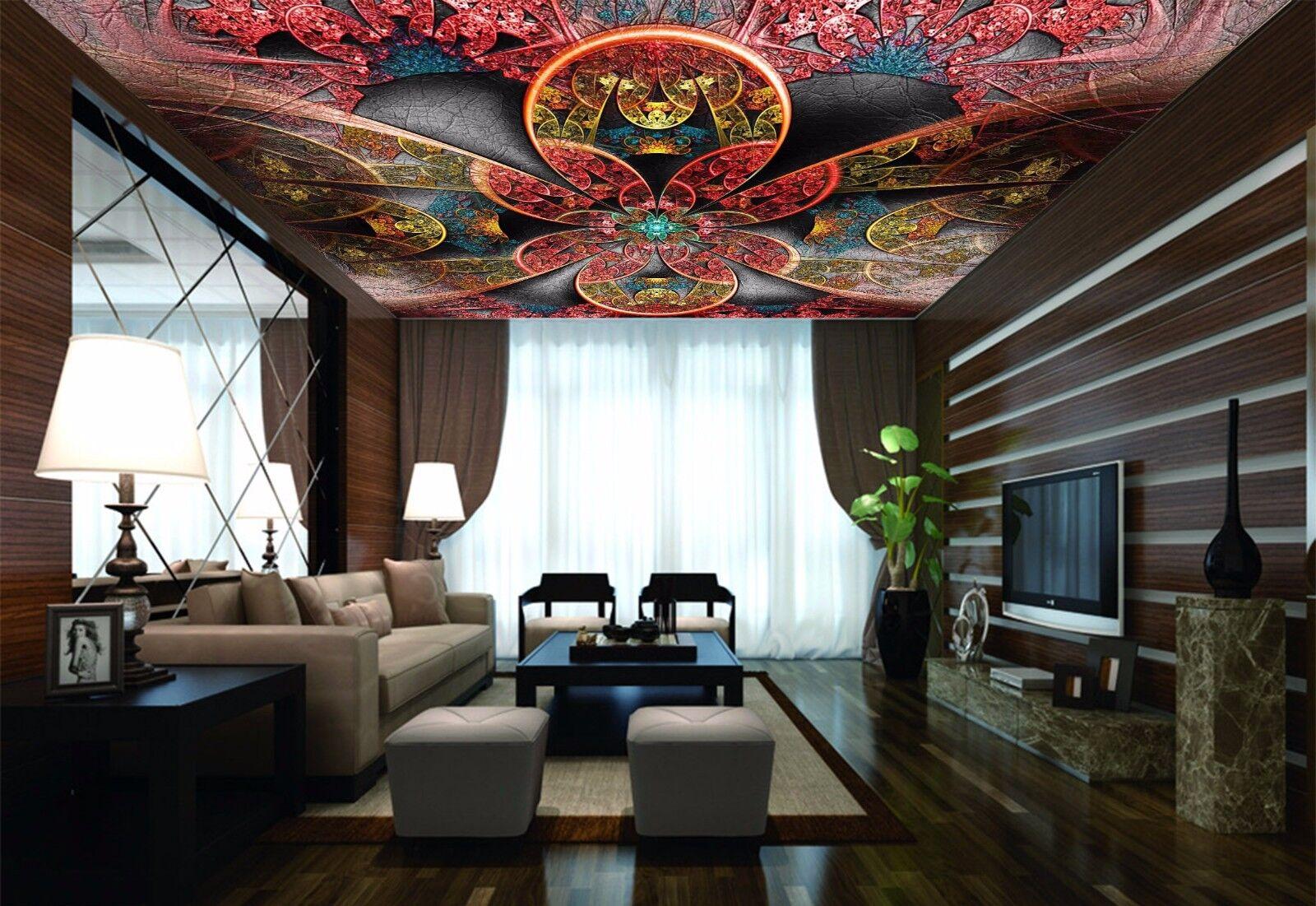 3D Leaf Texture 875 Ceiling WallPaper Murals Wall Print Decal Deco AJ WALLPAPER