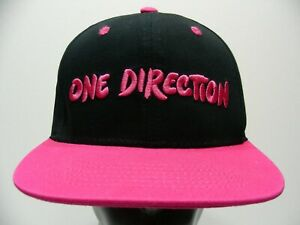 ONE-DIRECTION-BLACK-amp-PINK-ONE-SIZE-ADJUSTABLE-SNAPBACK-BALL-CAP-HAT