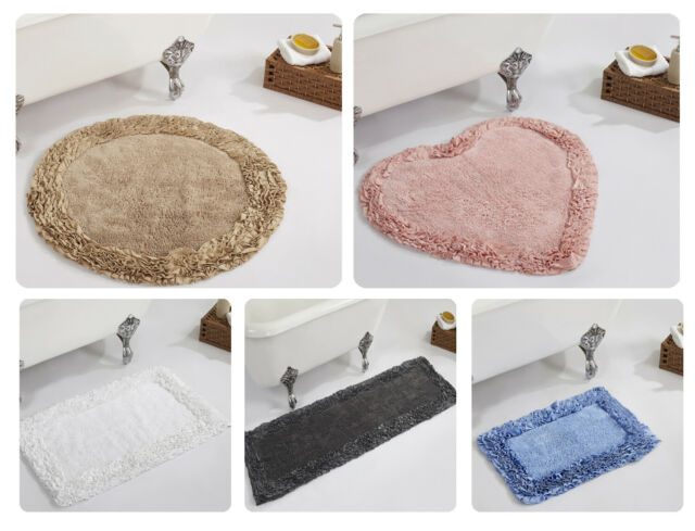 Waterworks Bath Rug /'Perennial/' Reversible 100/% cotton Bath Rug
