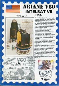 Actif Ariane V 60 Intelsat Vii / Usa / Lancement Ariane Kourou 1993
