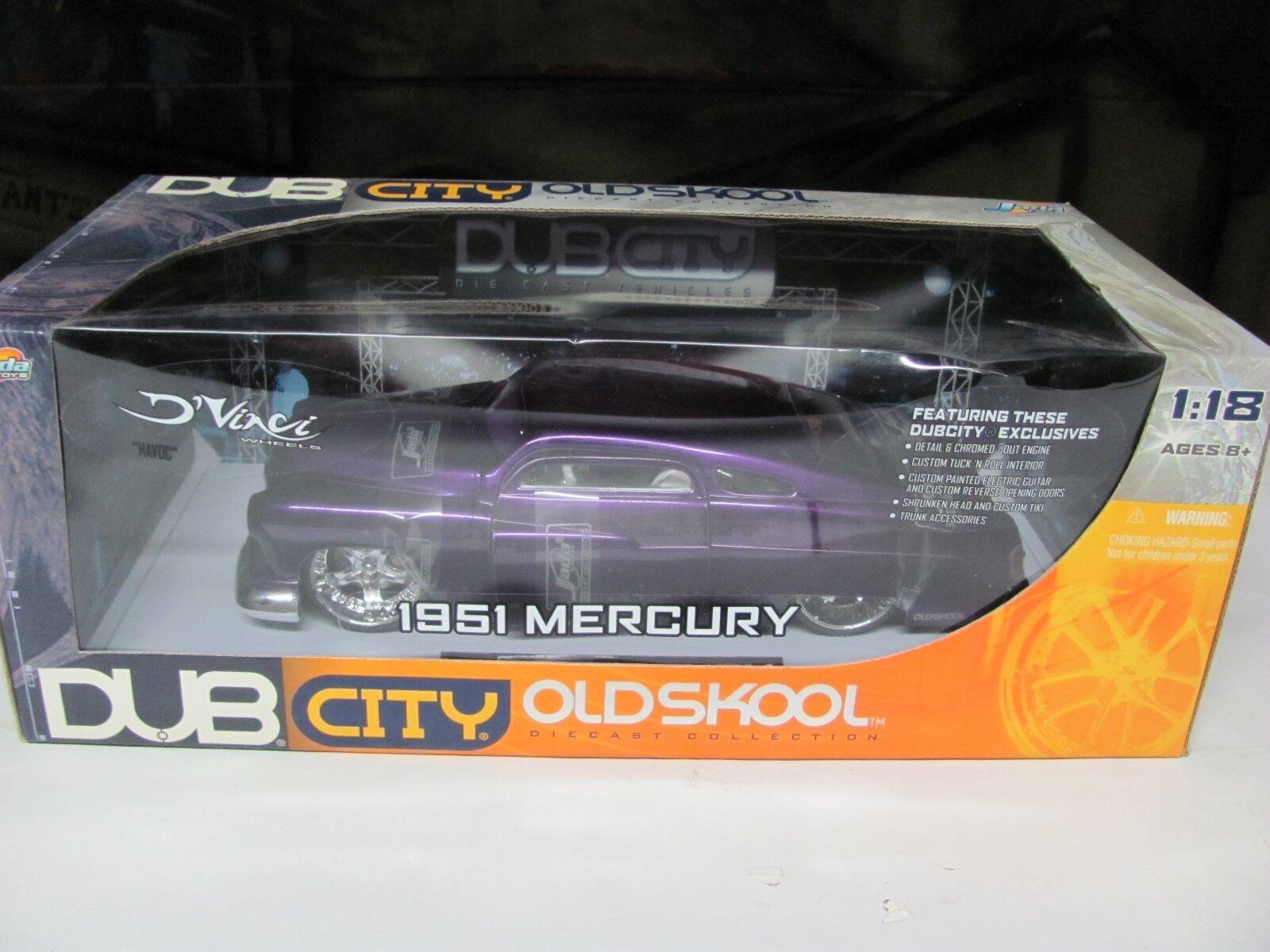 1 18 Jada DUB City  Old Skool  1951 Mercury Lowrider Lead Sled 24  Dub Wheels