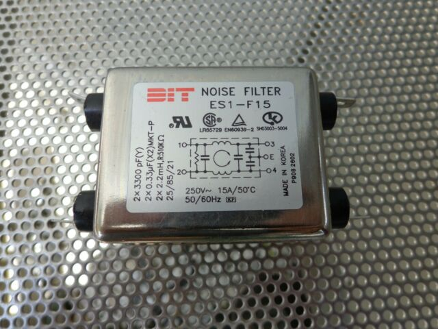 Corcom 15ET1 F7335  EMI Line Filter 250//120VAC 15A