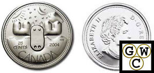 2004-Special-039-Moose-039-Canada-Day-25-Cent-Coin-COIN-ONLY-10850