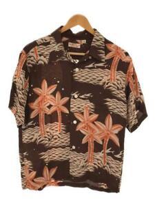Sun Surf Hawaii Aloha Hemd ganze Muster braun Viskose Größe M gebraucht aus Japan