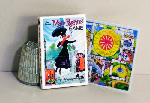 Dollhouse Miniature 1:12 scale   Mary Poppins Game   1960s Dollhouse game toy