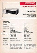 Service Manual-Anleitung für Nordmende HiFi 8002 ST, 970.134