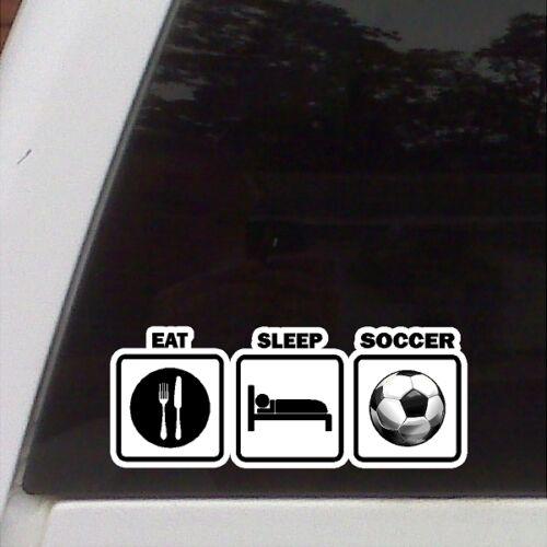 Eat Sleep Soccer  Car Decal Laptop Sticker Car Decal Soccer Sticker