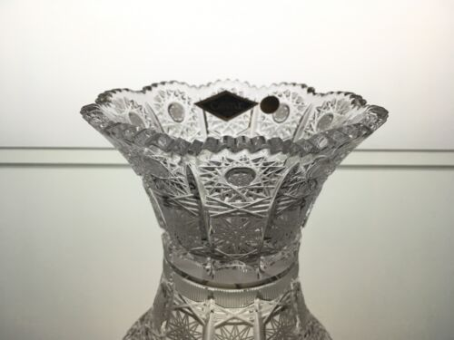 """4,5 /""""Hand Cut for Caviar Sweets Nuts Dessert Bohemian Crystal Crystal Bowl D"""