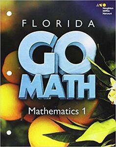 Details about Go Math Florida Mathematics 1 Student Interactive Worktext  Grade 6