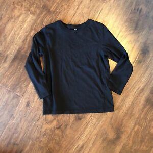 28d860b192b8f H M Boys Black Long Sleeve T Shirt  Size 4-6y (H)