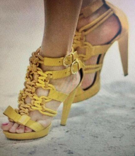 Viktor & Rolf Women's Yellow Platform Sandals 37.5