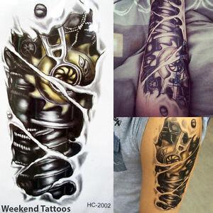 Terminator Tattoo Temporary Stickers Body Art 3D Tatoo ...  Terminator Tatt...